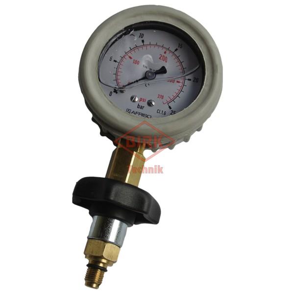 Prüfmanometer für Nass/Schaum-Dauerdrucklöscher mit Prüfzertifikat, Art.Nr.1076-1Z