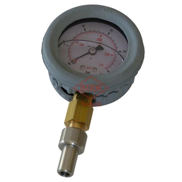 Prüfmanometer mit Prüfzertifikat