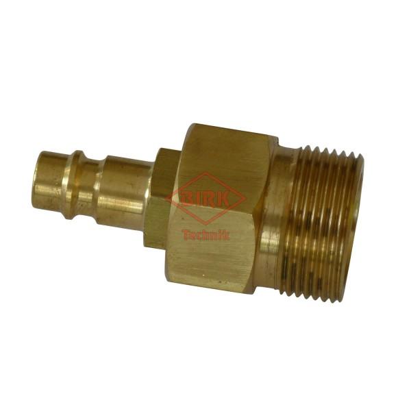 Schlauchprüfanschluss mit Stecker M 26 x 1,5 mit 0-Ringabdichtung