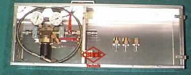Schlauchprüfgerät mit eingebautem Druckminderer