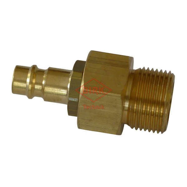 Schlauchprüfanschluss mit Stecker M 22 x 1,5 mit 0-Ringabdichtung