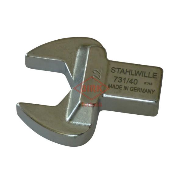 Einsteckgabelschlüssel mit Einsteckzapfen 14 x 18, SW 22