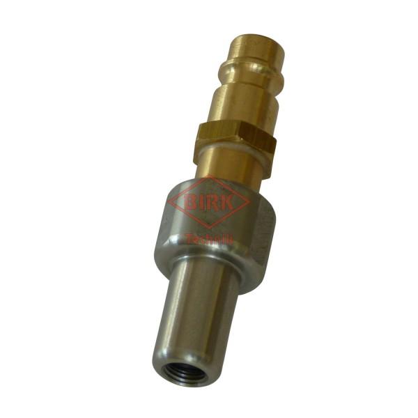 Füllanschluss für Prüfventile mit VG 8 Gewinde mit Stecker